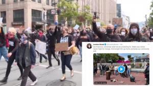旧金山非裔男子呼吁理智抗议 市长推特点赞