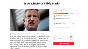 失望!愤怒! 纽约市制暴不力10万人弹劾市长