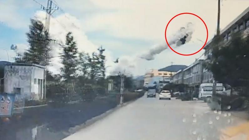 直击浙江温岭车辆爆炸瞬间 升起蘑菇云 数十人死伤