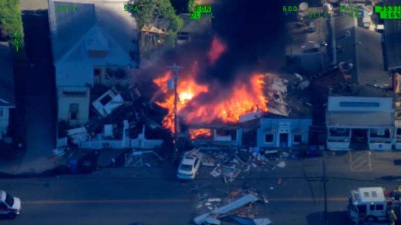 旧金山湾区马林郡建筑物突发爆炸 1号公路出口关闭