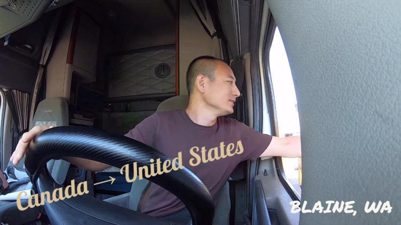 【Trucker刚】公路入境美国全记录 海关都问了我啥问题?