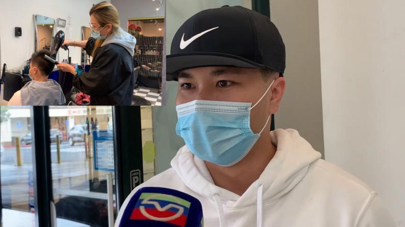 湾区圣马特奥理发店重开 华裔男生火速预约:四个月未理发太难受