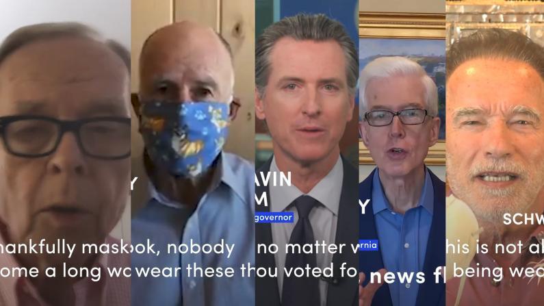 """5位加州州长齐上阵 呼吁民众""""戴口罩"""""""