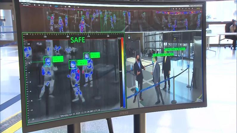 抗疫黑科技上线!洛杉矶国际机场红外测温