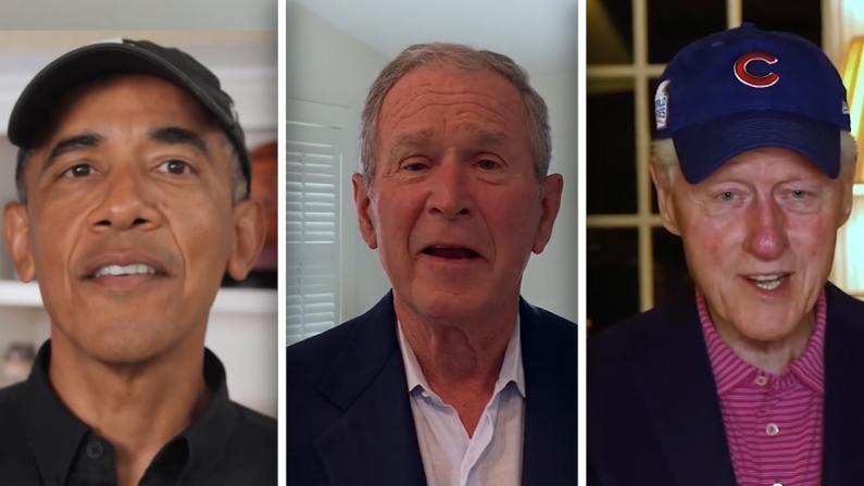 全部在世的前总统都为这场纪念传奇活动脱帽致敬