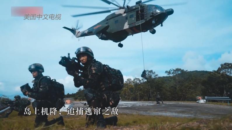 现场画面 驻香港部队组织三军联合训练