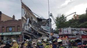纽约布鲁克林健身馆塌方 事发前外墙曾装修