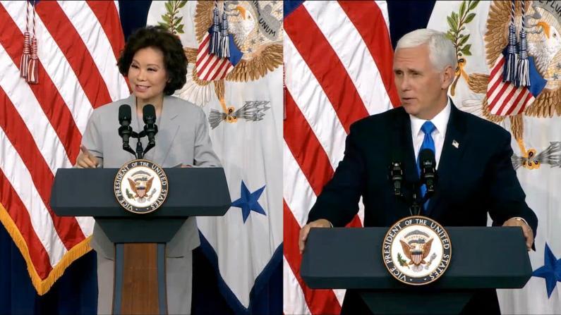 赵小兰彭斯讲述家族移民故事:美国是机会之地