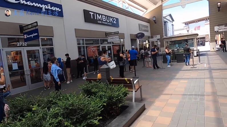 【硅谷生活】折扣诱惑!疫情下的购物中心拥挤但有序