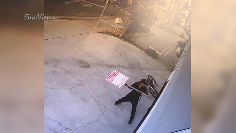 洛杉矶非裔嫌犯砸拳馆 遭华裔拳王暴击