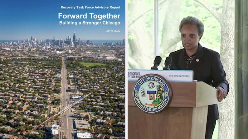 芝加哥新冠疫情降至中度风险 市长公布104页经济计划