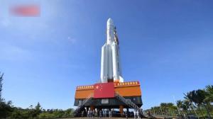 一分钟看中国首次火星探测任务火箭就位全过程