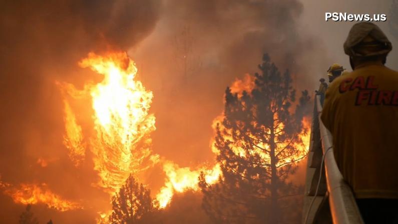 加州Hog Fire山火延烧至高速路 事故指挥站通讯数受影响