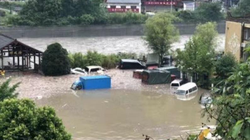 强降雨造成四川茂县多处受灾 1人失联