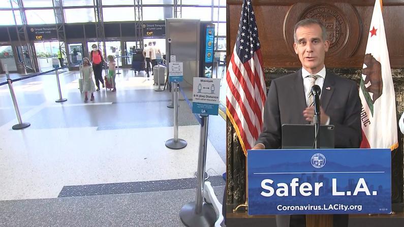 """向乘客免费发口罩 洛杉矶国际机场推""""安全大使计划"""""""