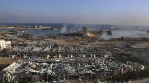 贝鲁特港口被炸成一片废墟 目击者:比15年前战争还糟