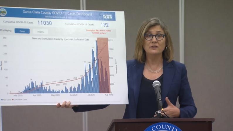 湾区圣克拉拉郡卫生局长:加州系统故障 确诊数或比已知的多