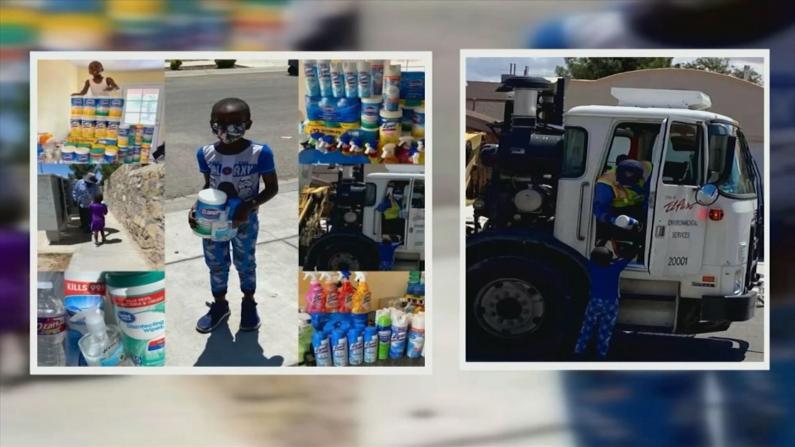 正能量!得州5岁男孩坚持向社区派发免费消毒用品
