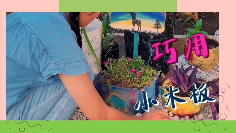 【德州田园生活】巧用零碎木板 自制小花盆