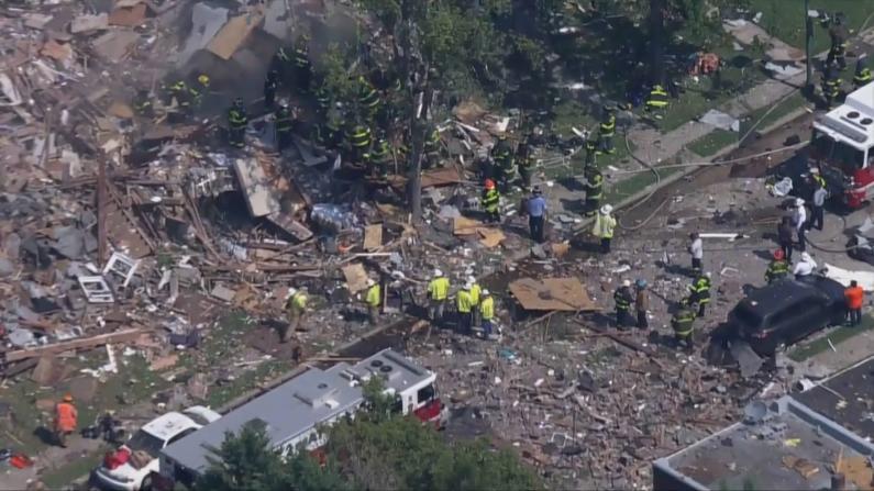 巴尔的摩天然气爆炸一死三重伤 三栋房屋成碎片