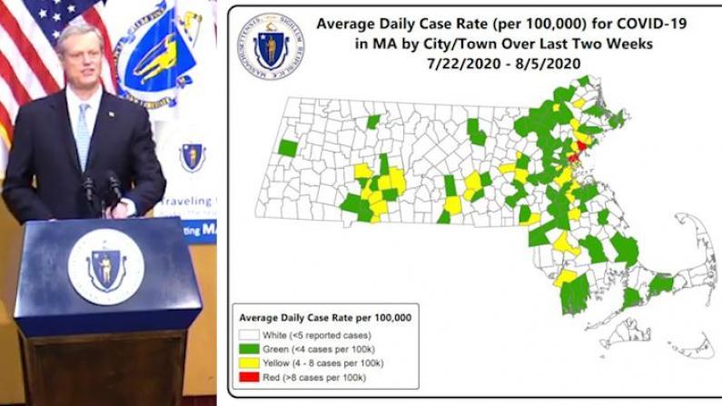 麻州公布各地新冠感染风险指数 这四个城市最高危