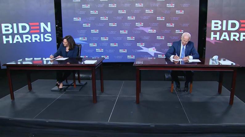 【实录】拜登贺锦丽签字确认 代表民主党出征总统大选