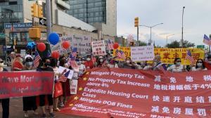 """要求打击""""租霸"""" 减免地税 两千纽约华人房东怒吼:要公平!"""