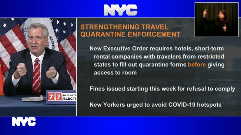 疫情下纽约市推旅馆短租房新规 市长就日落公园疫情这样说…