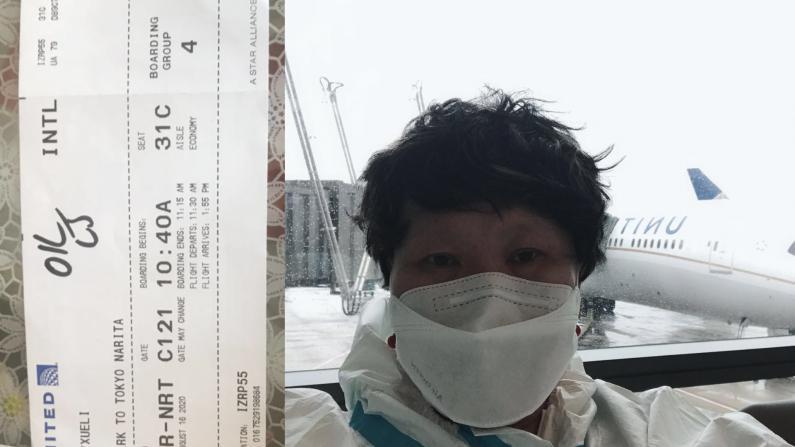 """从纽瓦克飞往中国登机时却遭""""拒载"""" 华裔女子讲述经过"""