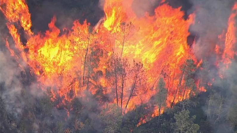 30多场山火同时燃烧 加州宣布进入紧急状态