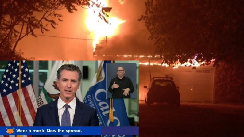 过万次雷击引发367宗火灾 加州州长纽森:北加火灾尚未控制
