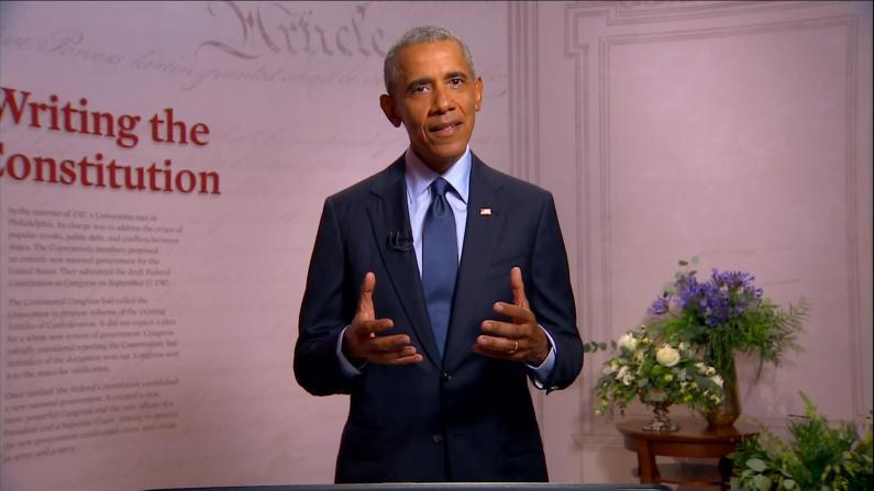 民主党全国大会奥巴马前所未有批川普:把总统职位当真人秀工具