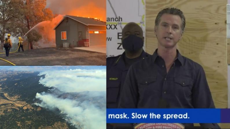 北加州山火至少4人死亡 州长纽森:扑救取得初步进展