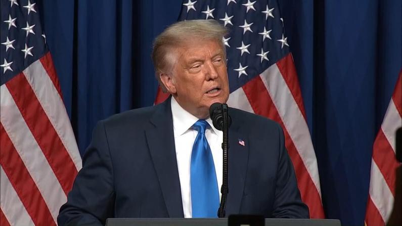 """川普被正式提名 现身会场称""""这次选举历史上最重要"""""""