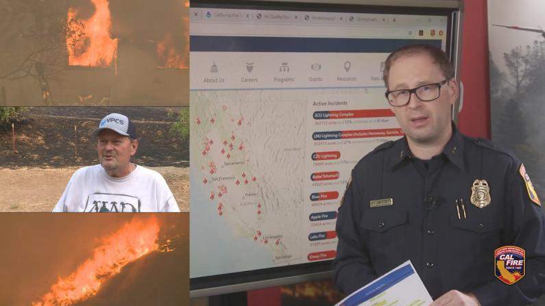 20场山火加州蔓延 过火社区触目惊心
