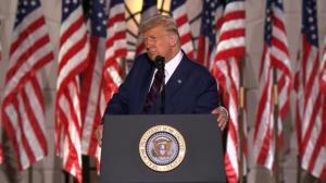 川普白宫发表接受提名演讲 全程批拜登多次提中国