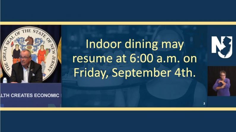 新州周五起恢复室内餐饮 白思豪:纽约市恢复或要等到这一天