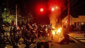 波特兰抗议进入第100天 冲突再次升级