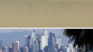 洛杉矶消失在浓浓烟尘中