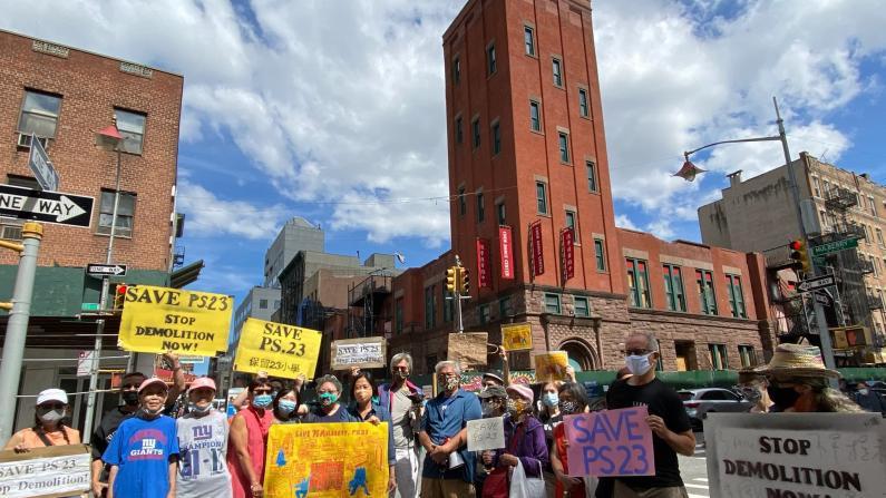 """缺乏""""透明度"""" 纽约华埠居民就茂比利街70号再次集会抗议"""