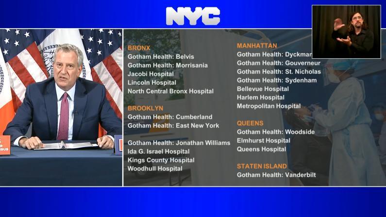 纽约市长披露公校教师新冠阳性率 呼吁家长学生去做这件事