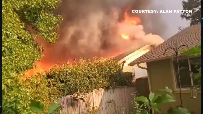 当住宅被野火包围后 这群俄勒冈河谷民众这样自救