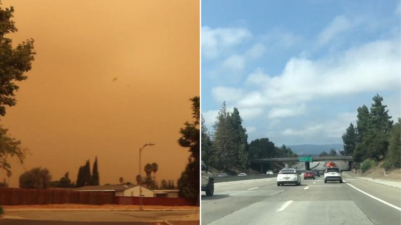 """【硅谷生活】山火烟尘笼罩那么久 湾区人终于结束""""末日""""见到蓝天白云!"""