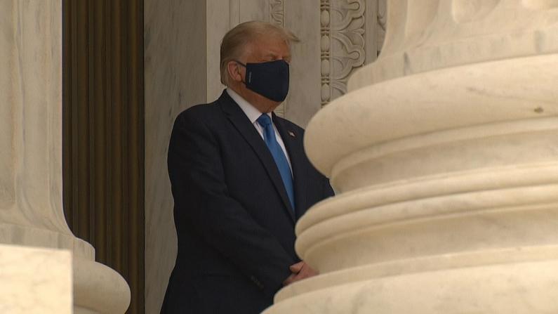 """川普吊唁金斯伯格被嘘:""""把他选下去"""""""