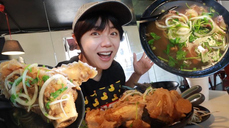 """【沛莉一家】去加州""""小西贡"""" 吃传说中最地道的越南河粉"""