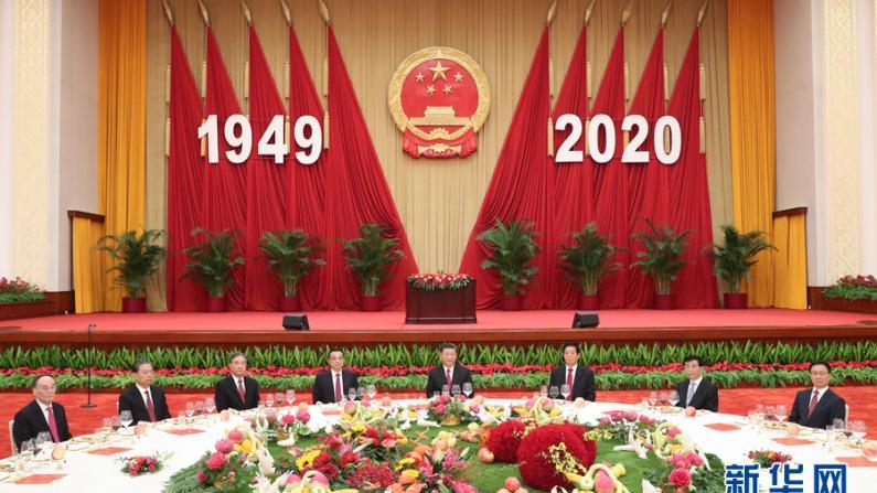 中国国务院举行国庆招待会 习近平等出席