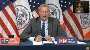 纽约市开25%室内就餐 市长:我还是继续待在室外