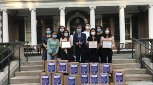 捐四万大学存款 赠14万PPE 纽约长岛华裔学生募捐抗疫