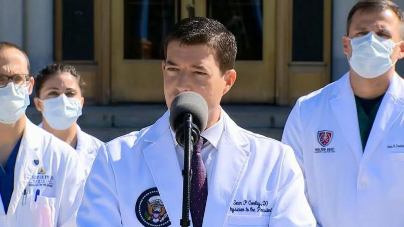 记者反复追问总统是否吸过氧 白宫医生:他现在没有吸