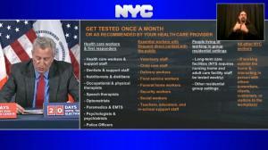 纽约市新要求:这些人每个月都必须做检测